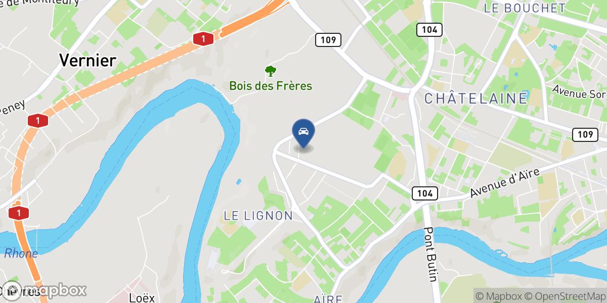Lignon Cars map