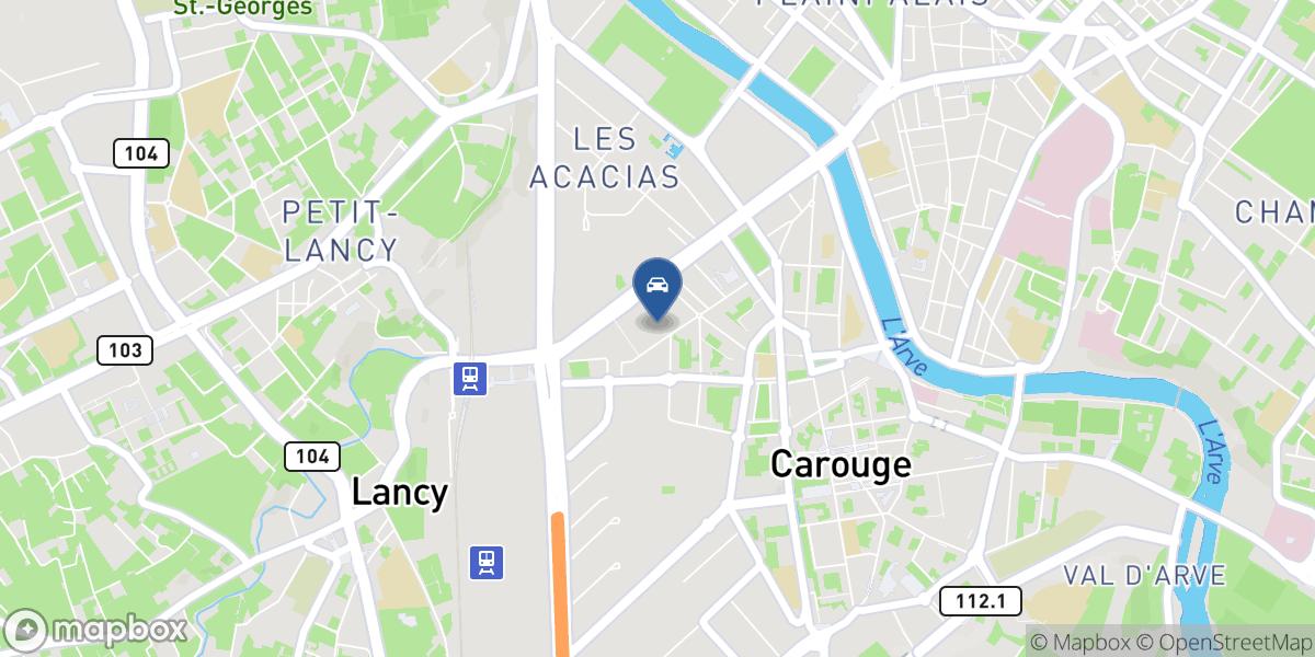 Garage des Noirettes map