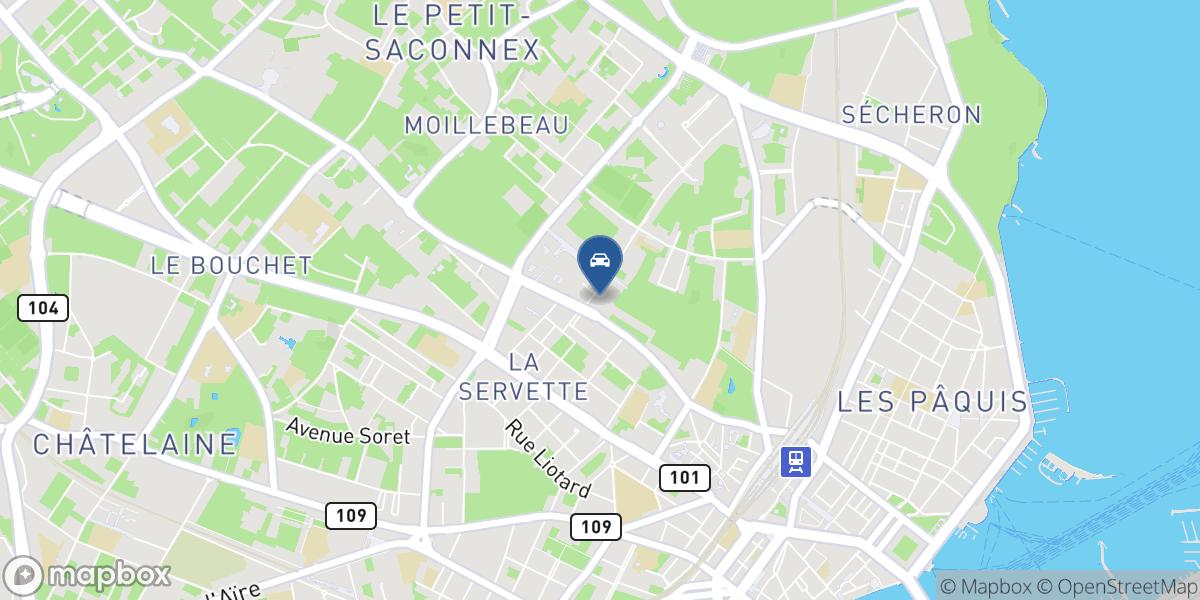 Garage GEM SA - Agent Peugeot map