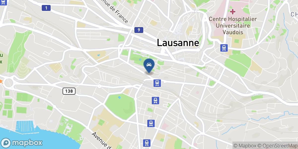 Parking et Garage Ruchonnet-Gare map