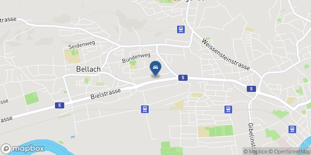 Garage Galliker AG Bellach map
