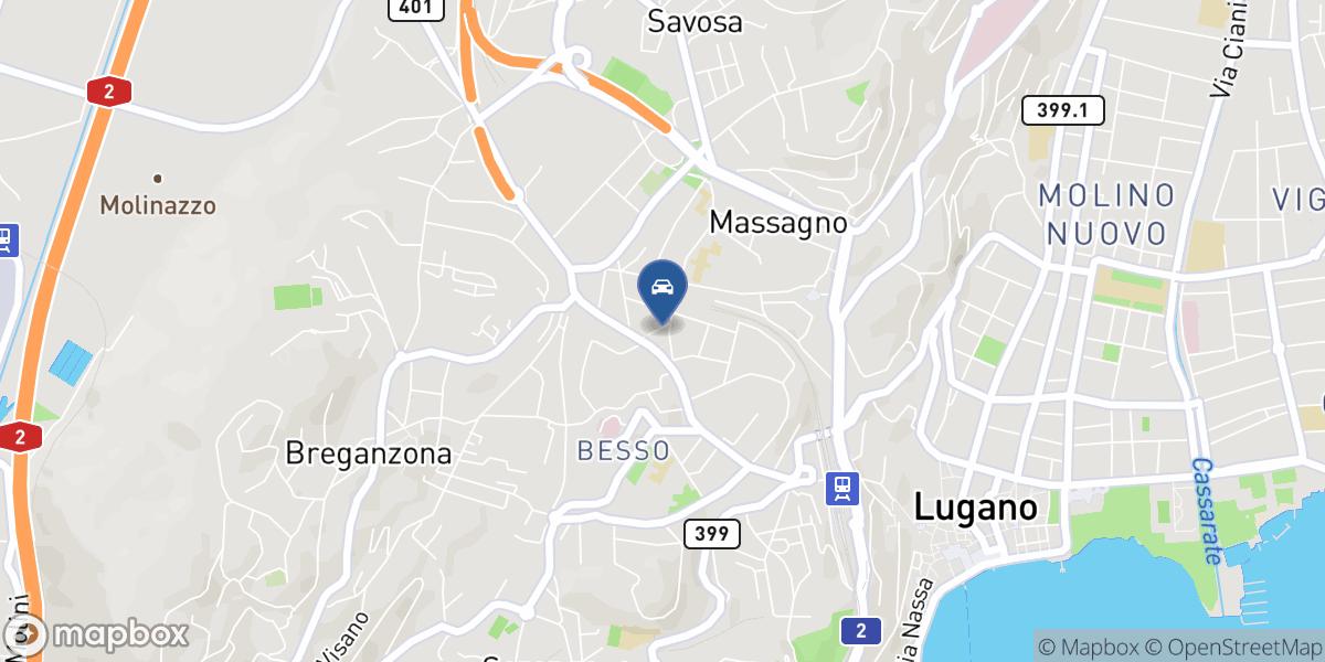 Garage Cartex Massagno map