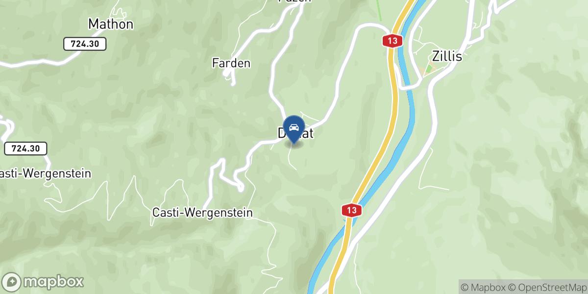Cantieni AG Transporte und Garage map
