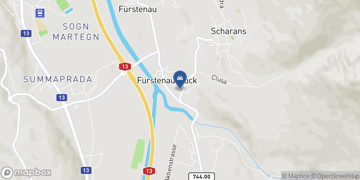 Garage Battaglia Eugster GmbH map