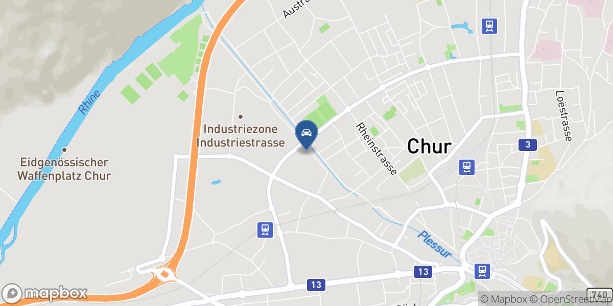 Auto-Service Chur map
