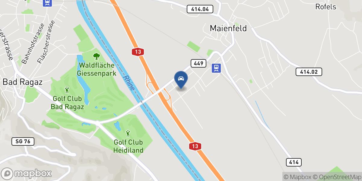 Porsche Zentrum Maienfeld map