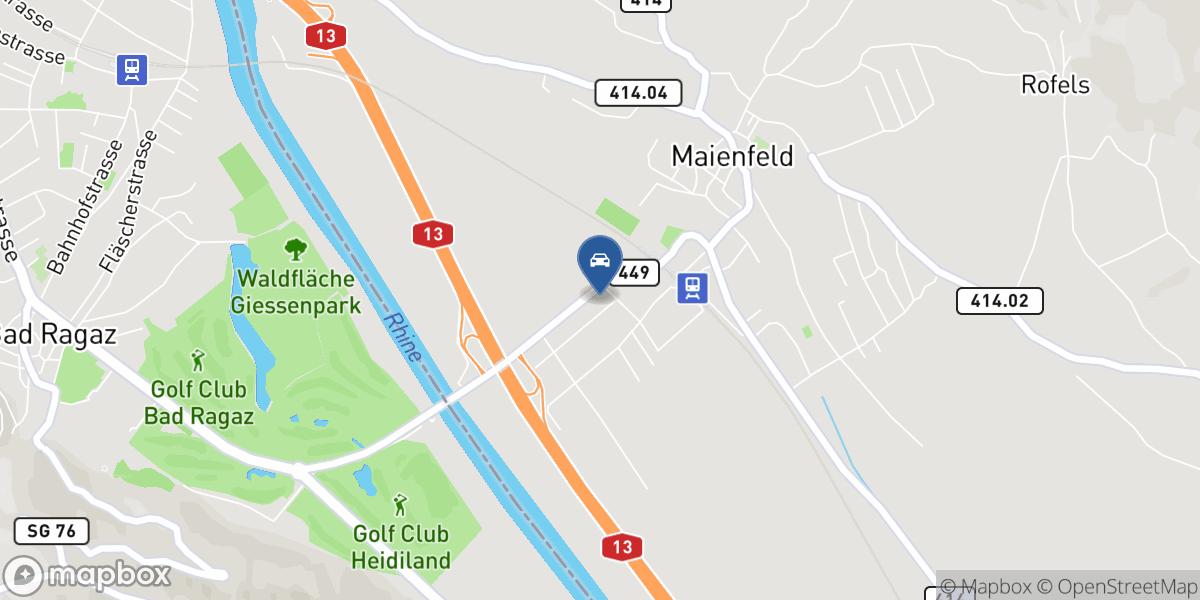 Rheingarage Jäger AG map