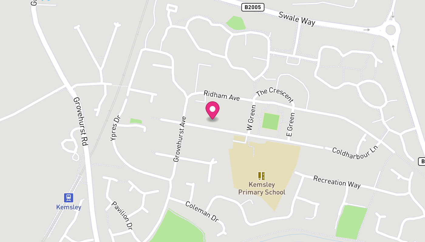 Map of Kemsley Community House Older Youth Club - Closed for now location