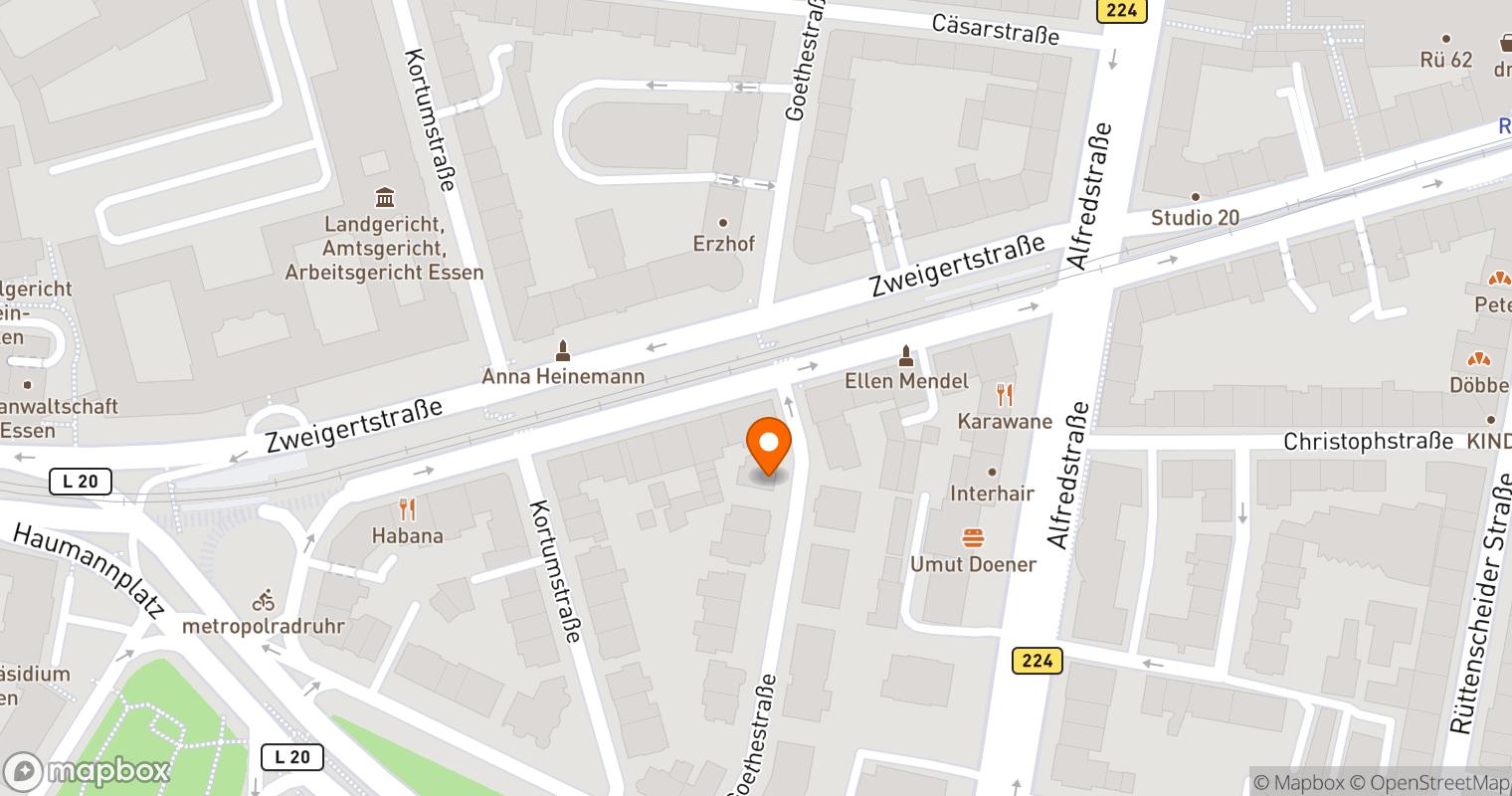 Mapbox Map of 7.001165,51.436759