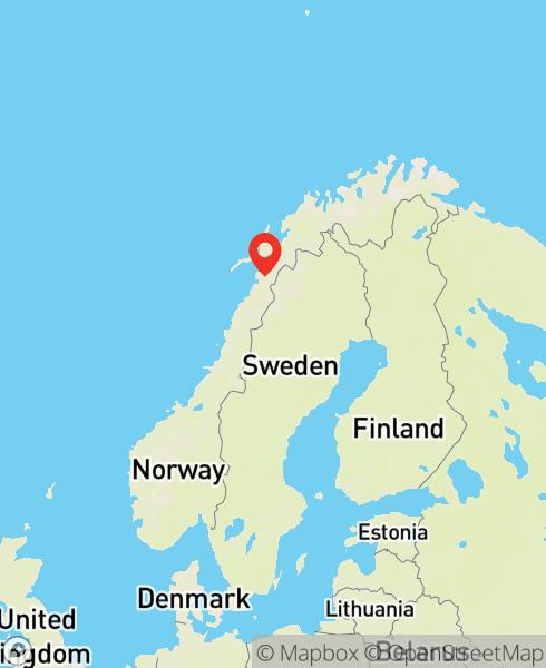 Mapbox Map of 15.6591666,67.3948488)