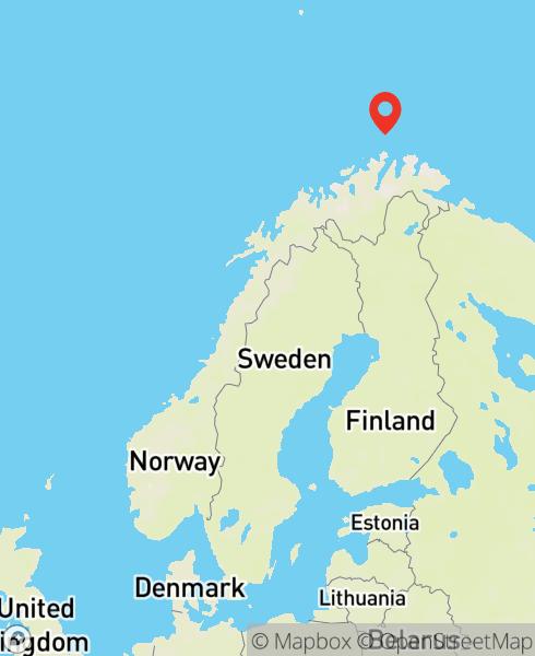 Mapbox Map of 25.83076,71.113596)