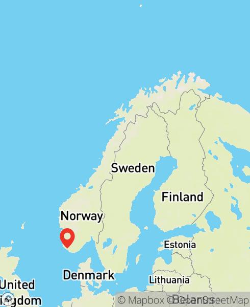 Mapbox Map of 6.35917,58.33053)