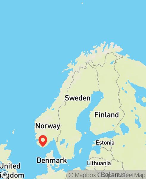 Mapbox Map of 7.45317,58.02614)