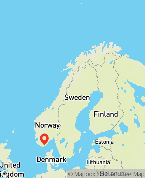 Mapbox Map of 7.99309,58.1455)