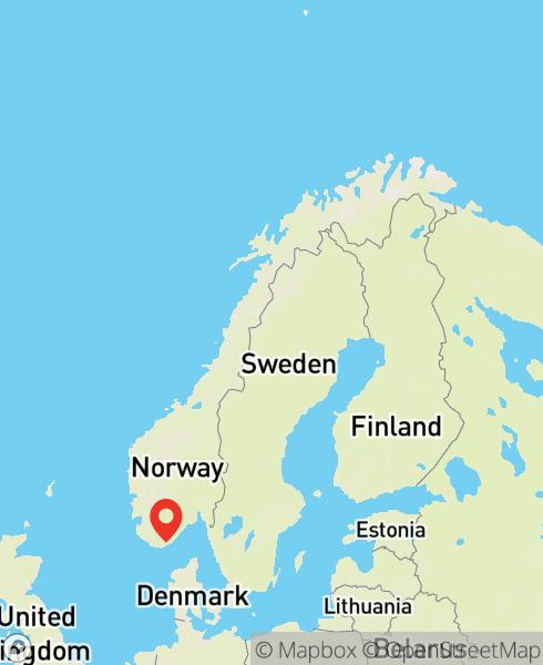 Mapbox Map of 7.99544,58.14611)