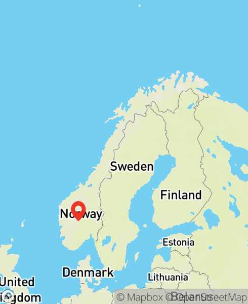 Mapbox Map of 8.3833333,60.45)