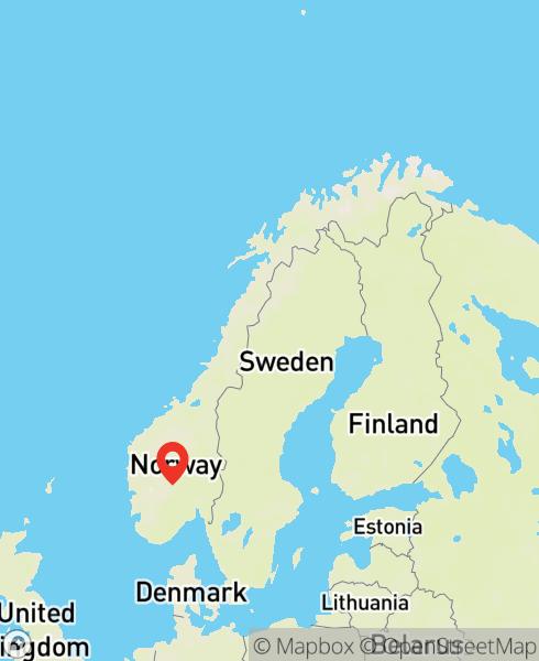 Mapbox Map of 8.54311,60.2974)