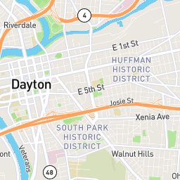 Dayton Area Level Of Traffic Stress Lts Interactive Map