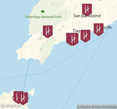 Spanien Lanzarote Karta.Resor Till Lanzarote