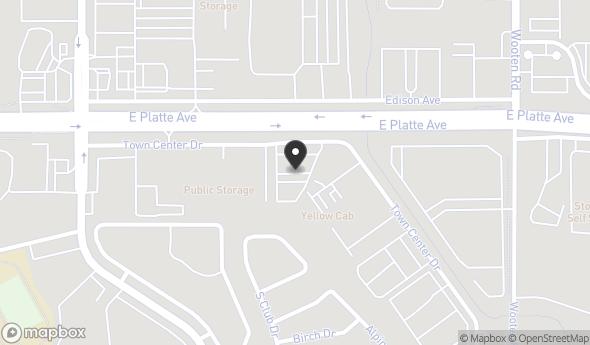 Location of 4615 Town Center Dr, Colorado Springs, CO 80916