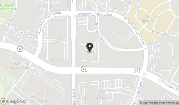 Location of ONE GATEWAY PLAZA: 1330 Inverness Dr, Colorado Springs, CO 80910