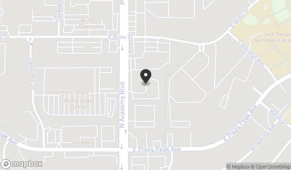 Location of FORMER J.D. BYRIDER DEALERSHIP: 155 N Academy Blvd, Colorado Springs, CO 80909