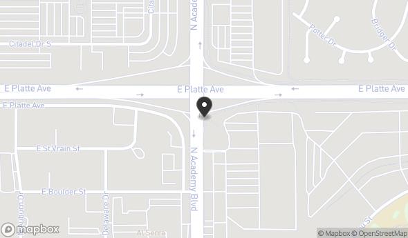 Location of East Platte Avenue: East Platte Avenue, Colorado Springs, CO 80909