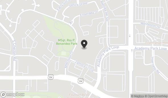 Location of ACADEMY PARK LOOP LAND: 1125 Academy Park Loop, Colorado Springs, CO 80910