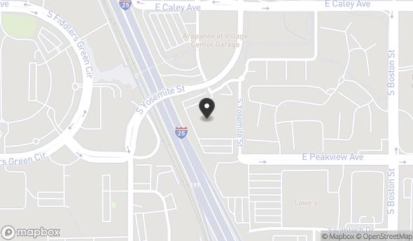 Location of 6455 S Yosemite St, Greenwood Village, CO 80111