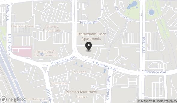 Location of 8101 E Prentice Ave, Greenwood Village, CO 80111