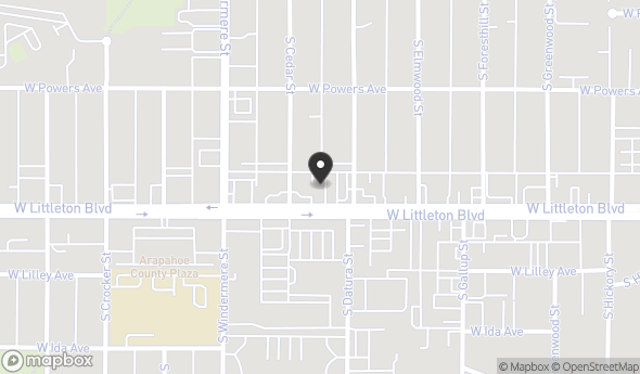 Location of 1449 W Littleton Blvd, Littleton, CO 80120