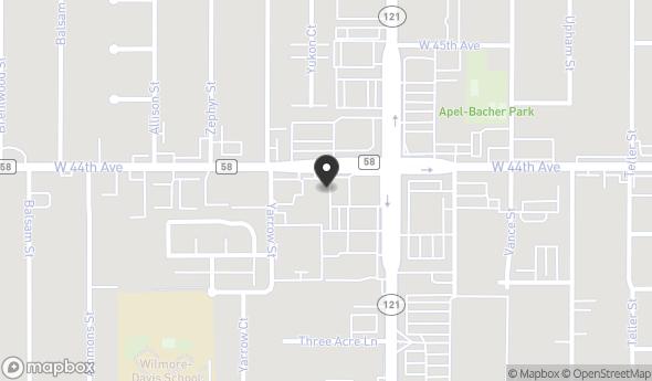 Location of 7700 W 44th Ave, Wheat Ridge, CO 80033