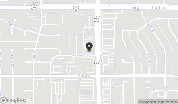 Location of 2333 Main St, Longmont, CO 80501