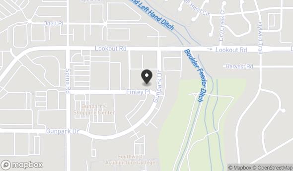 Location of GUNBARREL CENTER: 5340 Gunbarrel Center Ct, Boulder, CO 80301