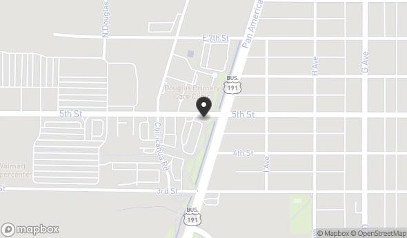Location of Carl's Jr. Restaurant Building Sublease: 105 E 5th St, Douglas, AZ 85607
