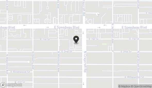 Location of Craycroft Plaza: 1011 N Craycroft Rd, Tucson, AZ 85711
