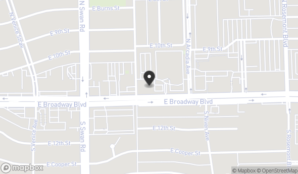 Location of 4801 E Broadway Blvd, Tucson, AZ 85711