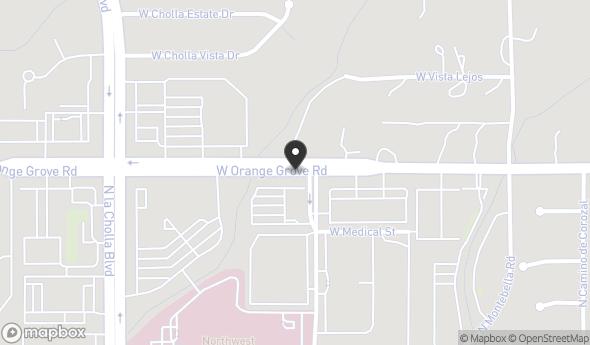 Location of Orange Grove Medical Center: 1925 W Orange Grove Rd, Tucson, AZ 85704