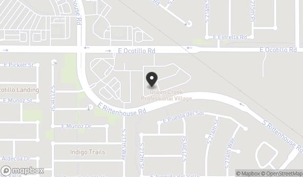Location of Queen Creek Professional Village: 21321 E Ocotillo Rd, Queen Creek, AZ 85142