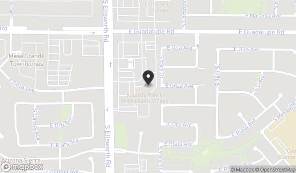 Location of 2919 S Ellsworth Rd, Suite 125, Mesa, AZ 85212