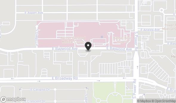 Location of Baywood Medical Plaza: 6641 E Baywood Ave, Mesa, AZ 85206