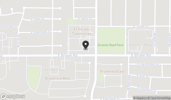 Location of El Dorado Commerce Center: 6344 E Brown Rd, Mesa, AZ 85205