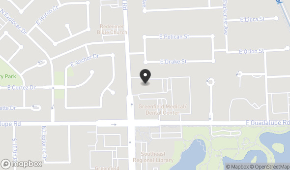 Location of Greenfield Medical/Dental Center: 875 N Greenfield Rd, Gilbert, AZ 85234