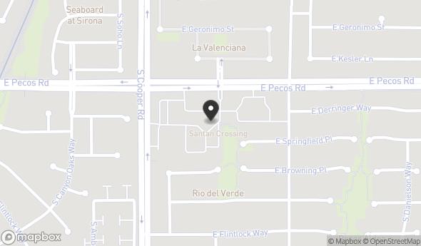 Location of Santan Crossing: 2151 E Pecos Rd, Chandler, AZ 85225