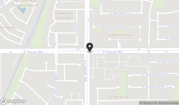 Location of San Tan Crossing Professional Plaza: 2231 E Pecos Rd, Chandler, AZ 85225