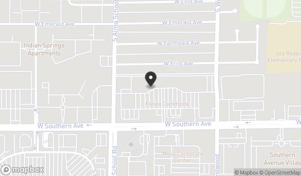 Location of Fiesta Commons Shopping Center: NEC Southern Ave & Alma School Rd, Mesa, AZ 85210
