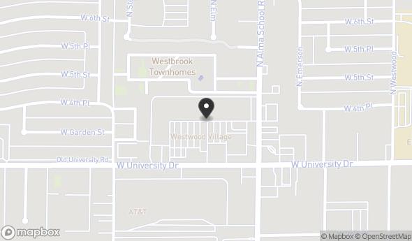 Location of WESTWOOD VILLAGE SHOPPING CENTER: 1250 W University Dr, Mesa, AZ 85201