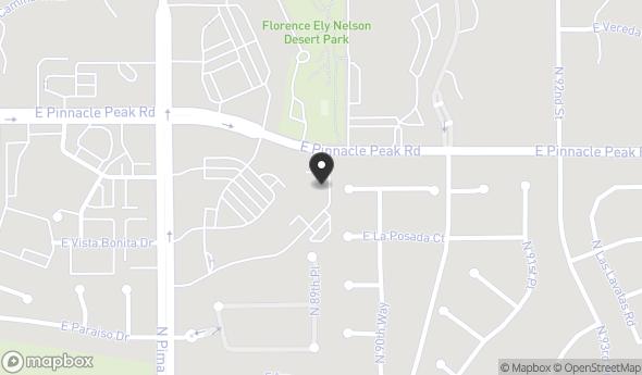 Location of Fully Leased Office Buildilng for Sale North Scottsdale: 8955 East Pinnacle Peak Road, Scottsdale, AZ 85255