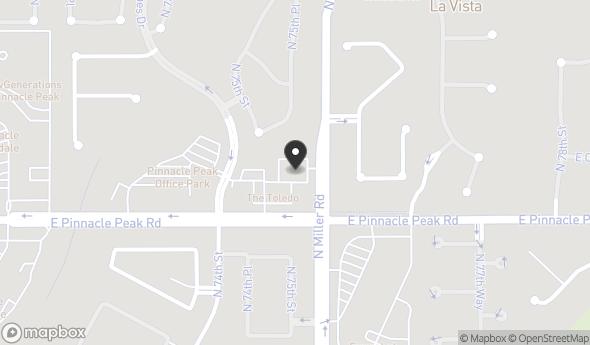 Location of The Toledo Office Buildings, Suite B-118: 7502 E Pinnacle Peak Rd, Scottsdale, AZ 85255