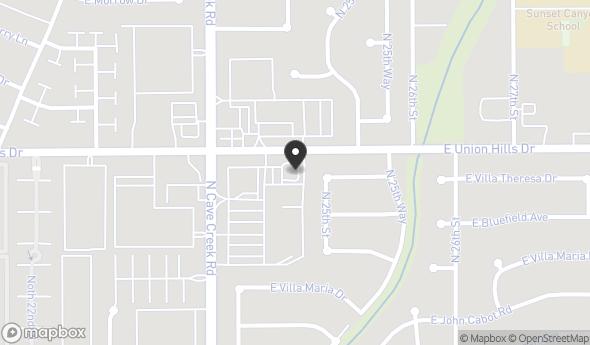 Location of Sold - Restaurant with Drive-Thru: 2439 E Union Hills Dr, Phoenix, AZ 85050